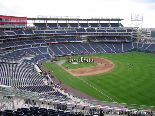 Seat view from section 228 at Nationals Park, home of the Washington Nationals