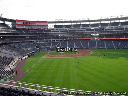 Seat view from section 238 at Nationals Park, home of the Washington Nationals