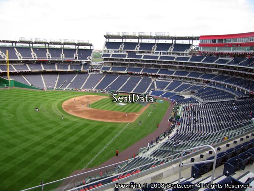 Seat view from section 301 at Nationals Park, home of the Washington Nationals