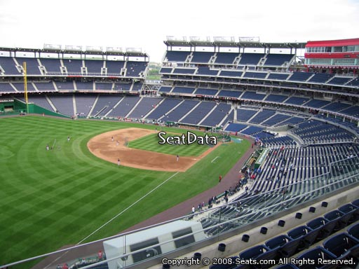 Seat view from section 302 at Nationals Park, home of the Washington Nationals