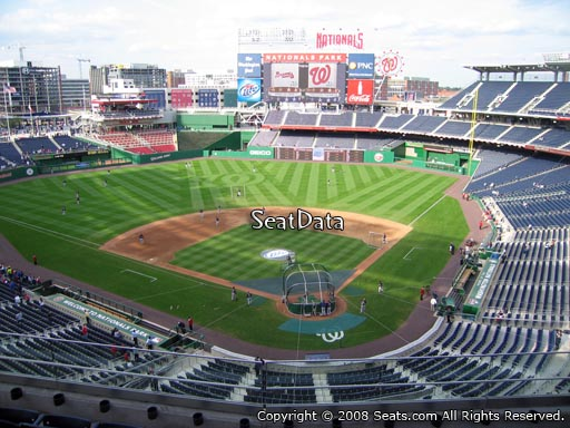 Seat view from section 312 at Nationals Park, home of the Washington Nationals