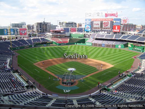 Seat view from section 314 at Nationals Park, home of the Washington Nationals