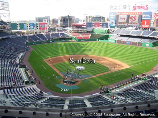 Seat view from section 315 at Nationals Park, home of the Washington Nationals