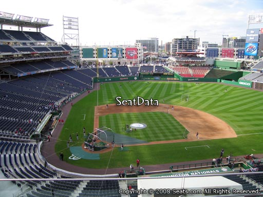 Seat view from section 317 at Nationals Park, home of the Washington Nationals