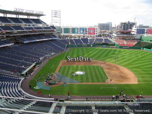 Seat view from section 318 at Nationals Park, home of the Washington Nationals