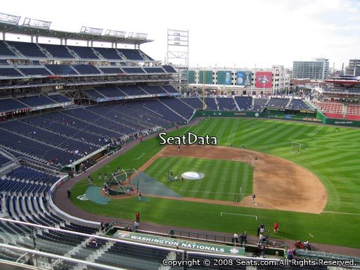 Seat view from section 319 at Nationals Park, home of the Washington Nationals