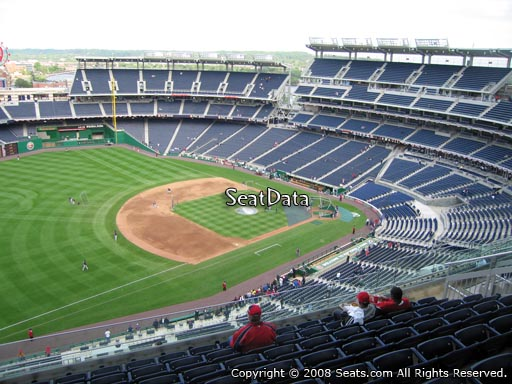 Seat view from section 404 at Nationals Park, home of the Washington Nationals