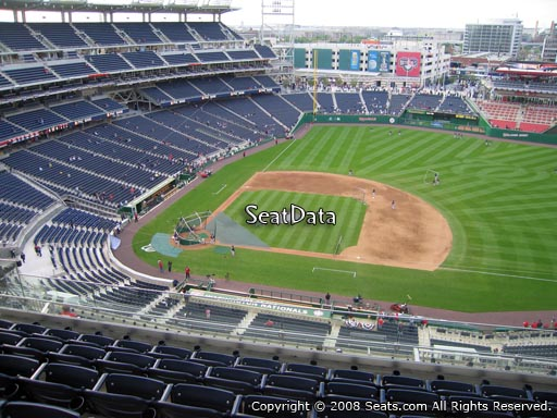 Seat view from section 419 at Nationals Park, home of the Washington Nationals