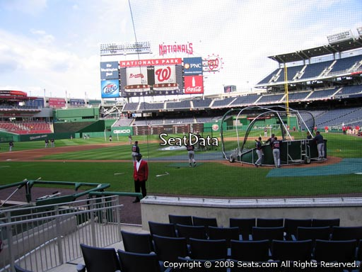 Seat view from section A at Nationals Park, home of the Washington Nationals