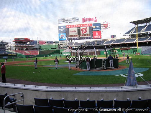 Seat view from section B at Nationals Park, home of the Washington Nationals