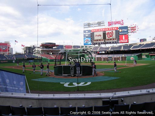 Seat view from section C at Nationals Park, home of the Washington Nationals