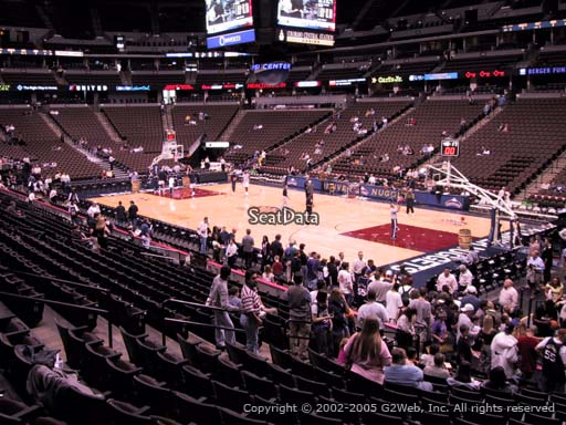 Seat view from section 120 at the Pepsi Center, home of the Denver Nuggets