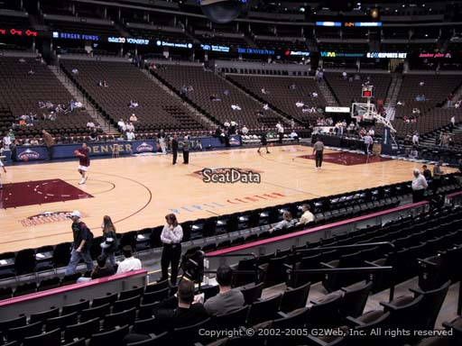Seat view from section 128 at the Pepsi Center, home of the Denver Nuggets