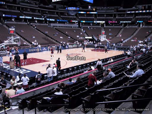 Seat view from section 130 at the Pepsi Center, home of the Denver Nuggets