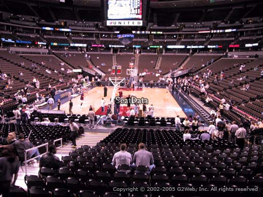 Seat view from section 136 at the Pepsi Center, home of the Denver Nuggets