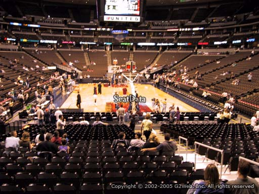 Seat view from section 138 at the Pepsi Center, home of the Denver Nuggets