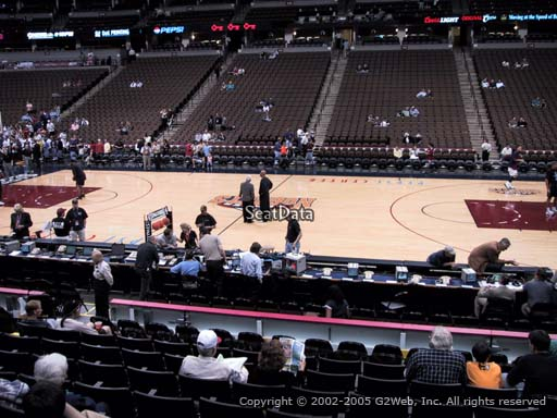 Seat view from section 148 at the Pepsi Center, home of the Denver Nuggets