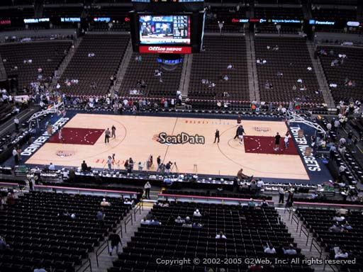 Seat view from section 260 at the Pepsi Center, home of the Denver Nuggets
