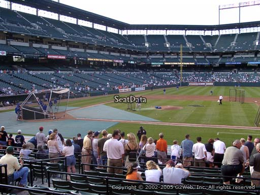 Seat view from section 20 at Oriole Park at Camden Yards, home of the Baltimore Orioles