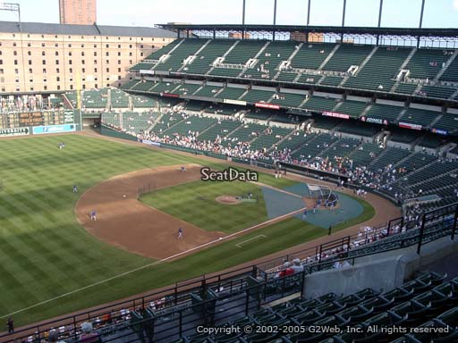 Seat view from section 362 at Oriole Park at Camden Yards, home of the Baltimore Orioles