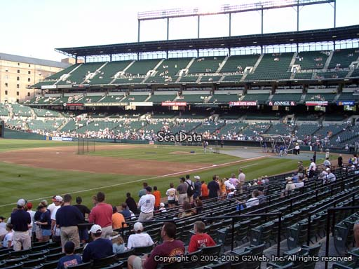 Seat view from section 62 at Oriole Park at Camden Yards, home of the Baltimore Orioles