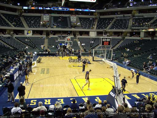 Seat view from section 1 at Bankers Life Fieldhouse, home of the Indiana Pacers