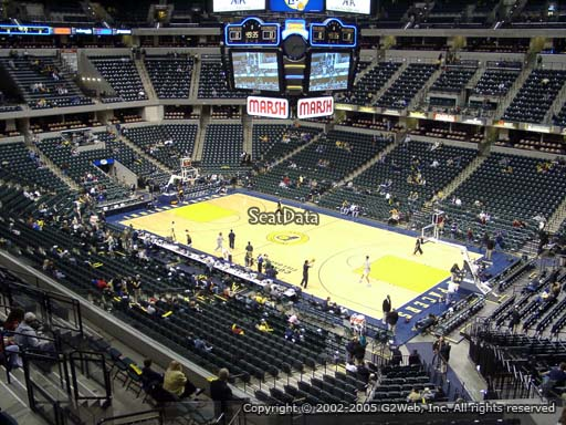 Seat view from section 101 at Bankers Life Fieldhouse, home of the Indiana Pacers