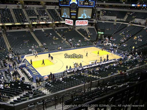 Seat view from section 106 at Bankers Life Fieldhouse, home of the Indiana Pacers