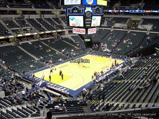 Seat view from section 108 at Bankers Life Fieldhouse, home of the Indiana Pacers