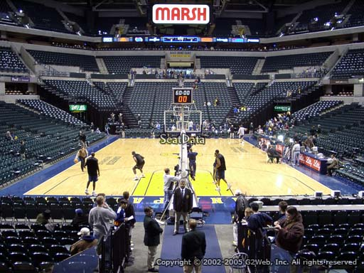 Seat view from section 11 at Bankers Life Fieldhouse, home of the Indiana Pacers