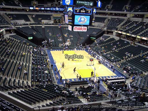 Seat view from section 111 at Bankers Life Fieldhouse, home of the Indiana Pacers