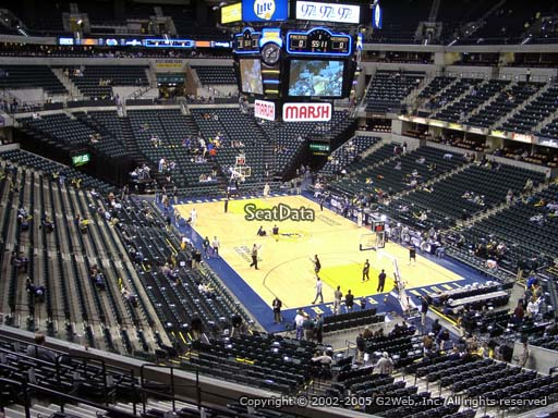 Seat view from section 112 at Bankers Life Fieldhouse, home of the Indiana Pacers
