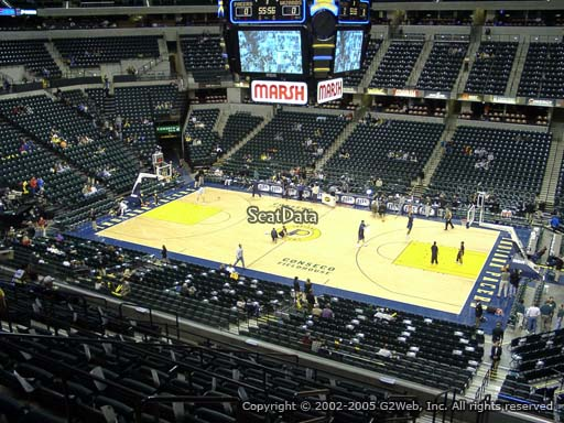 Seat view from section 115 at Bankers Life Fieldhouse, home of the Indiana Pacers