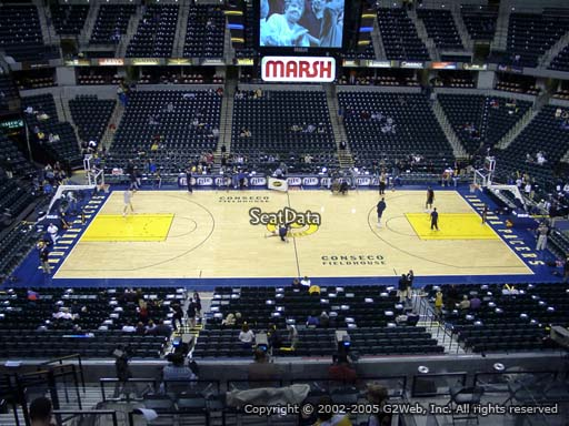 Seat view from section 117 at Bankers Life Fieldhouse, home of the Indiana Pacers