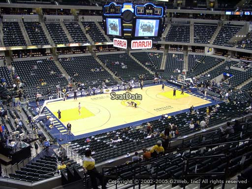 Seat view from section 119 at Bankers Life Fieldhouse, home of the Indiana Pacers