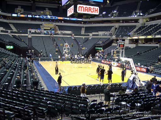 Seat view from section 12 at Bankers Life Fieldhouse, home of the Indiana Pacers
