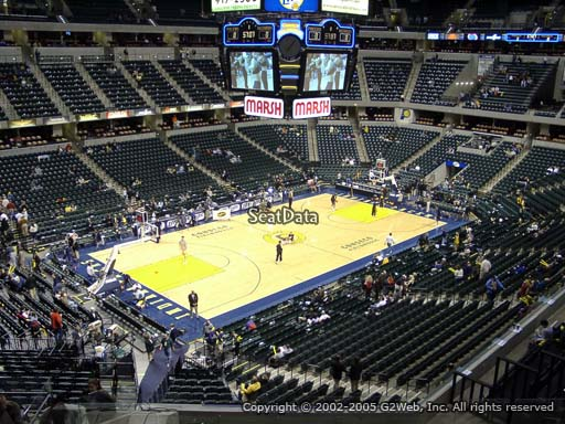 Seat view from section 120 at Bankers Life Fieldhouse, home of the Indiana Pacers