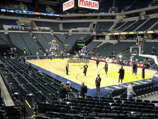 Seat view from section 13 at Bankers Life Fieldhouse, home of the Indiana Pacers