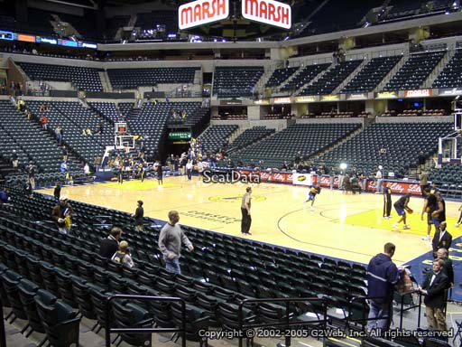 Seat view from section 14 at Bankers Life Fieldhouse, home of the Indiana Pacers