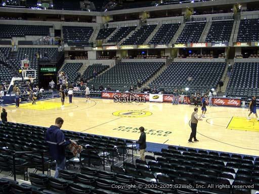 Seat view from section 15 at Bankers Life Fieldhouse, home of the Indiana Pacers