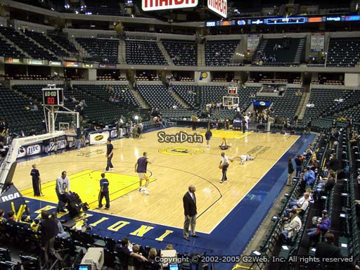 Seat view from section 19 at Bankers Life Fieldhouse, home of the Indiana Pacers