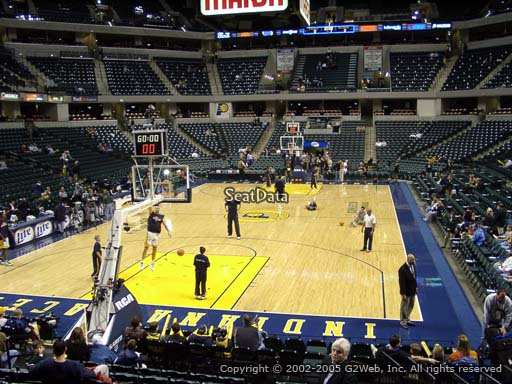 Seat view from section 20 at Bankers Life Fieldhouse, home of the Indiana Pacers