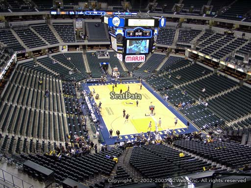 Seat view from section 202 at Bankers Life Fieldhouse, home of the Indiana Pacers