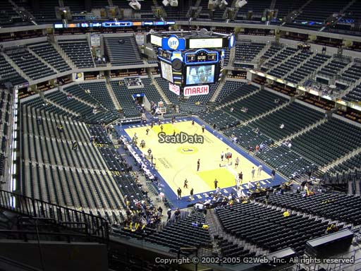 Seat view from section 203 at Bankers Life Fieldhouse, home of the Indiana Pacers