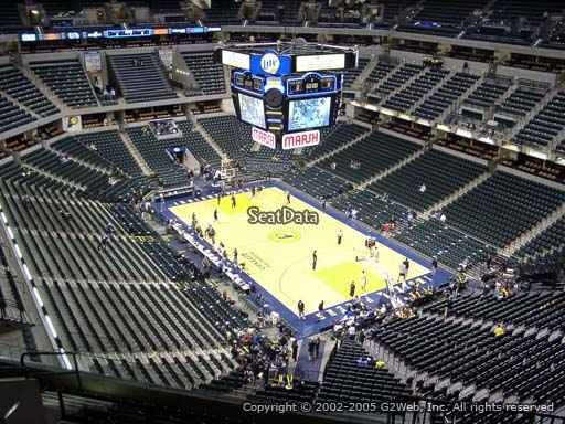 Seat view from section 204 at Bankers Life Fieldhouse, home of the Indiana Pacers