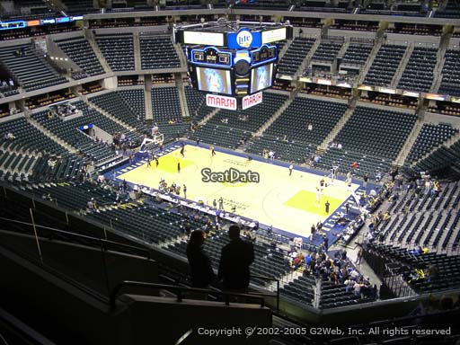 Seat view from section 206 at Bankers Life Fieldhouse, home of the Indiana Pacers