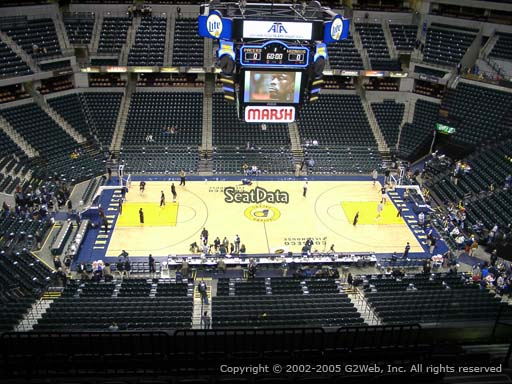 Seat view from section 209 at Bankers Life Fieldhouse, home of the Indiana Pacers