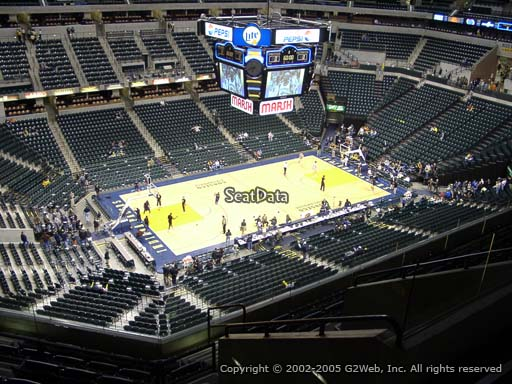 Seat view from section 211 at Bankers Life Fieldhouse, home of the Indiana Pacers