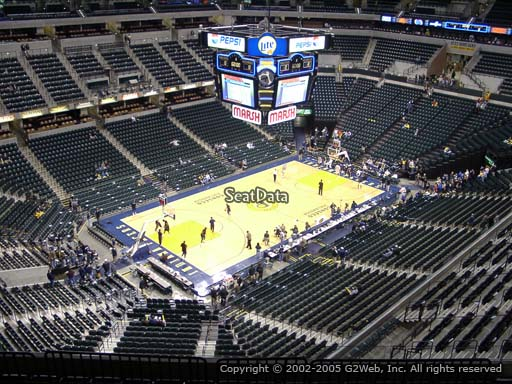 Seat view from section 212 at Bankers Life Fieldhouse, home of the Indiana Pacers