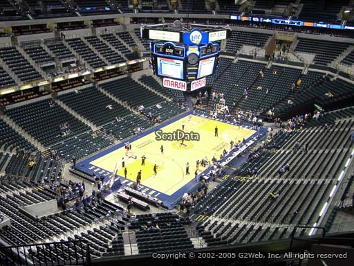 Seat view from section 213 at Bankers Life Fieldhouse, home of the Indiana Pacers